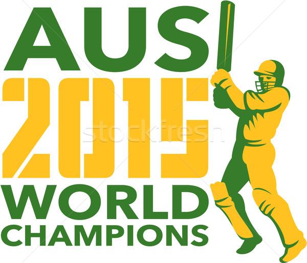 Austrália críquete 2015 mundo ilustração jogador Foto stock © patrimonio
