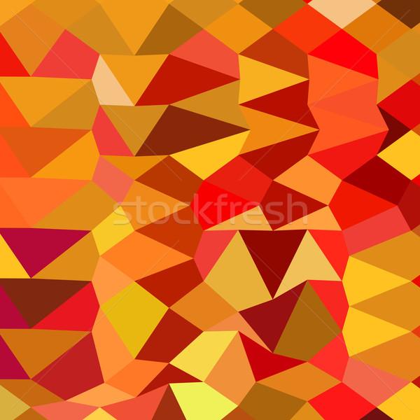 赤 抽象的な 低い ポリゴン スタイル 実例 ストックフォト © patrimonio