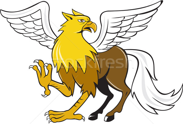 Hippogriff Prancing Isolated Cartoon Stock photo © patrimonio