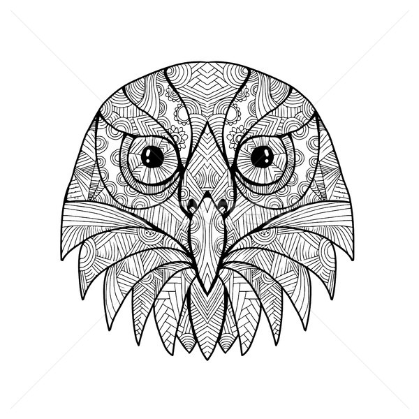 Australian Barking Owl Mandala Stock photo © patrimonio
