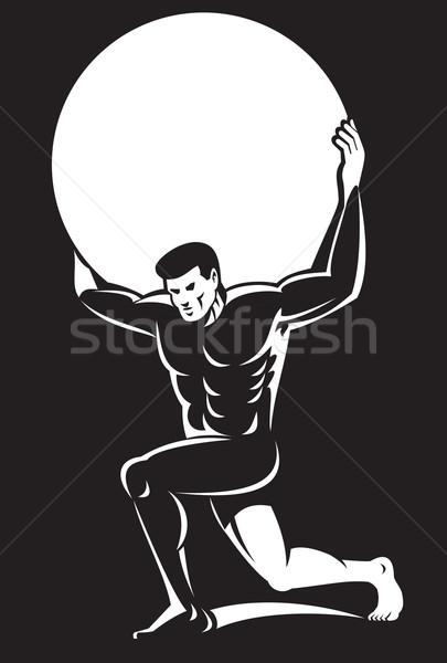 Atlas sferze piłka plecy ilustracja Zdjęcia stock © patrimonio