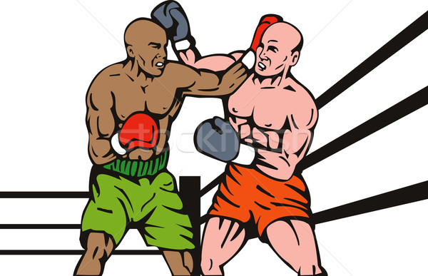 boxer connecting knockout punch Stock photo © patrimonio
