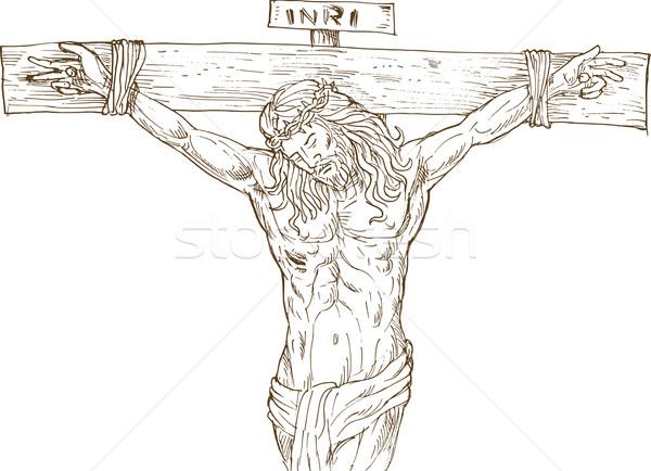 Gesù Cristo impiccagione cross illustrazione Foto d'archivio © patrimonio