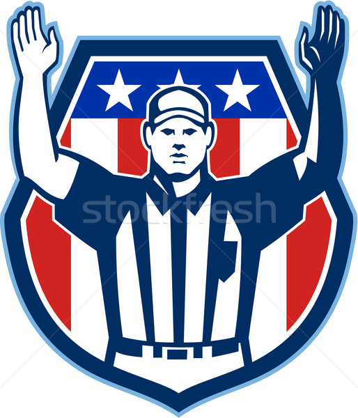 American Football Official Referee Touchdown Stock photo © patrimonio