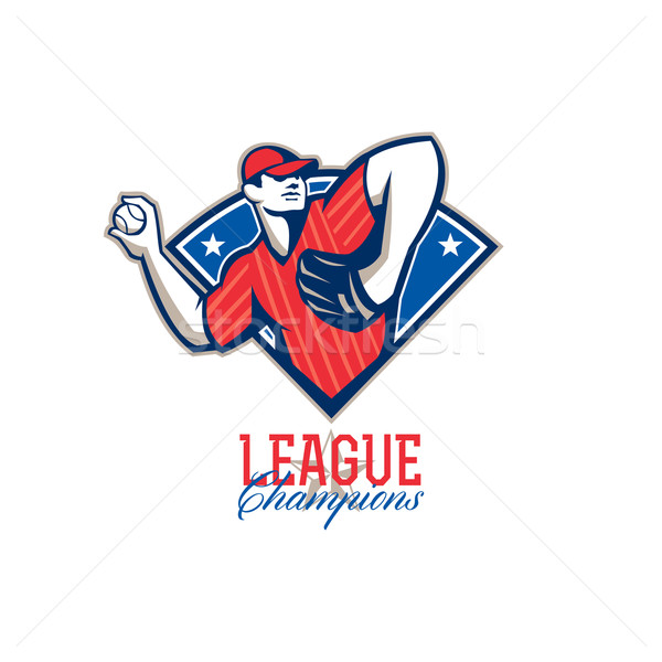 League Champions Baseball Retro Stock photo © patrimonio