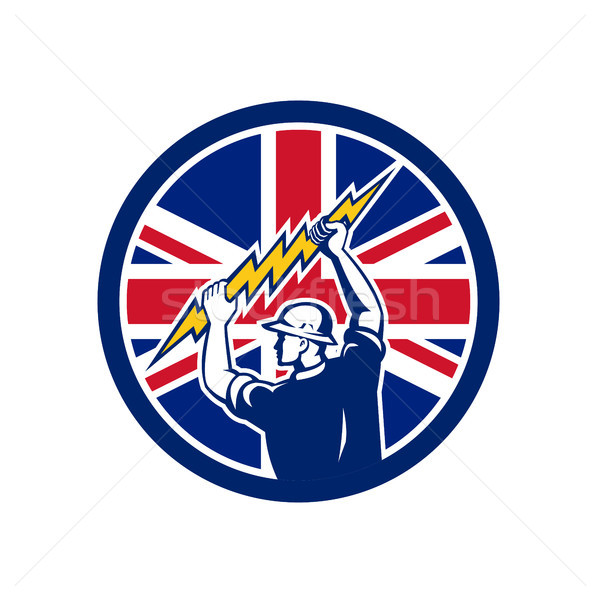 British Electrician Union Jack Flag icon Stock photo © patrimonio