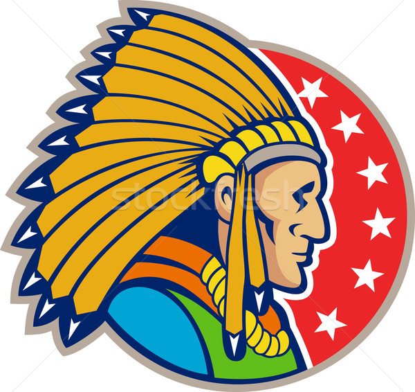 Stock photo: Native American Indian Headgear Side