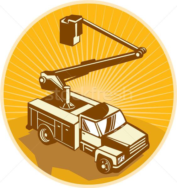 Cherry Picker Bucket Truck Access Equipment Retro Stock photo © patrimonio