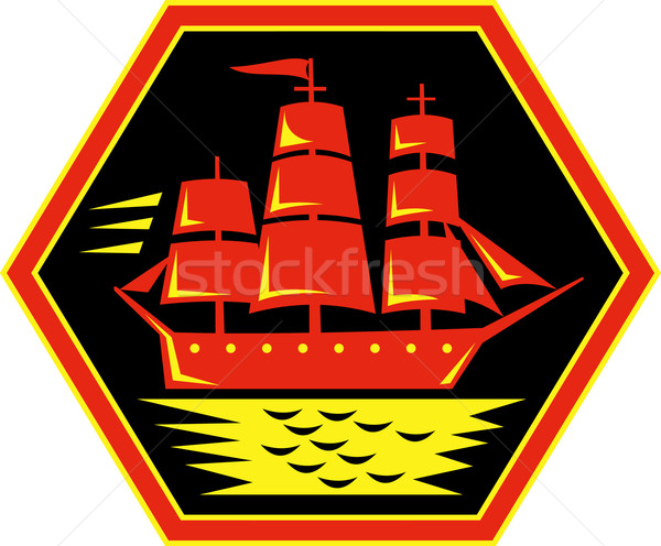 sailing ship or clipper icon Stock photo © patrimonio