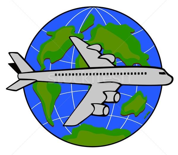Handlowych jet płaszczyzny linia lotnicza retro ilustracja Zdjęcia stock © patrimonio