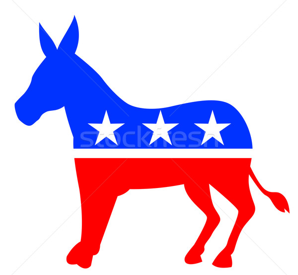 Outline donkey american colours Stock photo © patrimonio