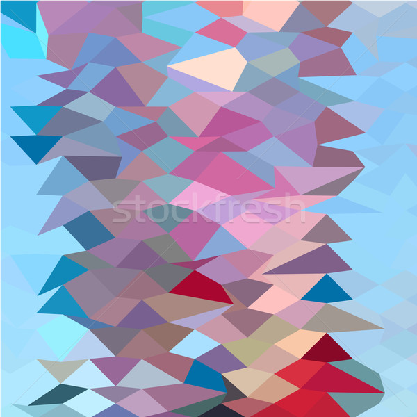 Aqua Ruby Red Abstract Low Polygon Background Stock photo © patrimonio