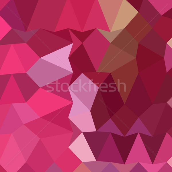 Brilliant Rose Pink Abstract Low Polygon Background Stock photo © patrimonio