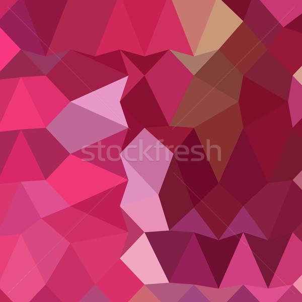 輝かしい バラ ピンク 抽象的な 低い ポリゴン ストックフォト © patrimonio