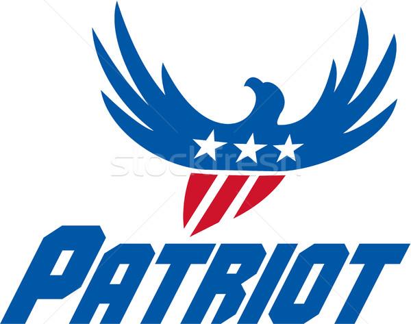 Aigle battant USA pavillon patriote Photo stock © patrimonio