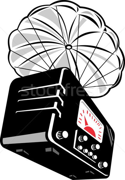 vintage radio with parachute Stock photo © patrimonio