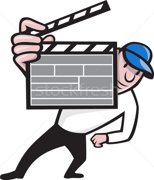 Director With Movie Clapboard Cartoon Stock photo © patrimonio