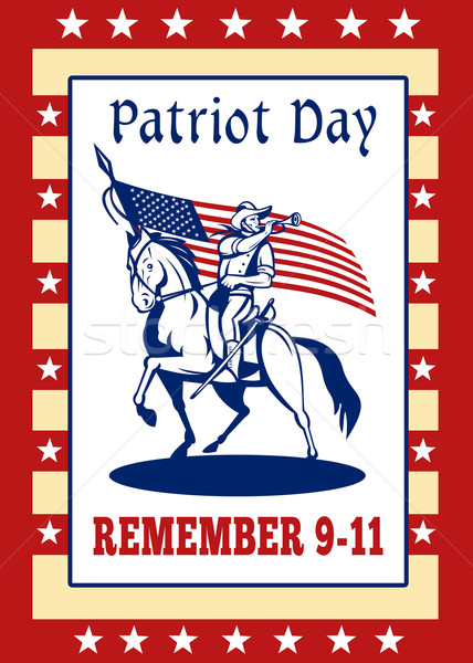 American Patriot Day Remember 911  Poster Greeting Card Stock photo © patrimonio