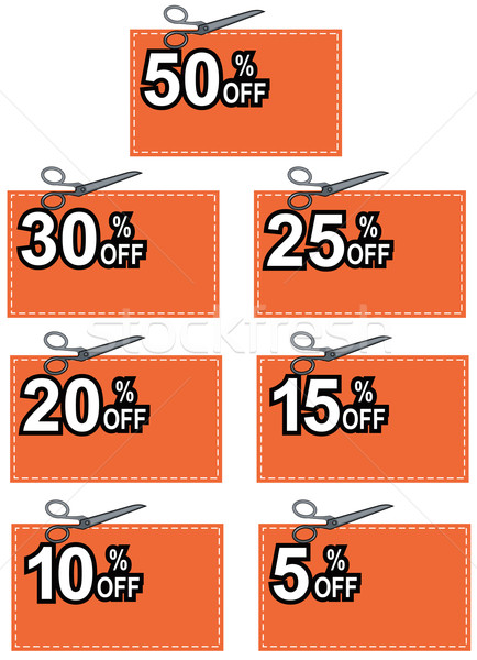 Scissors Cutting Coupon Per Cent Sign Stock photo © patrimonio