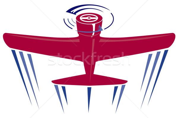 Propeller repülőgép retro illusztráció repülés repülés Stock fotó © patrimonio