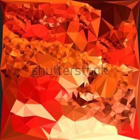 Orange Crystals Abstract Low Polygon Background Stock photo © patrimonio