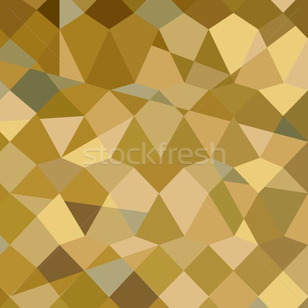 ブラウン 抽象的な 低い ポリゴン スタイル 実例 ストックフォト © patrimonio