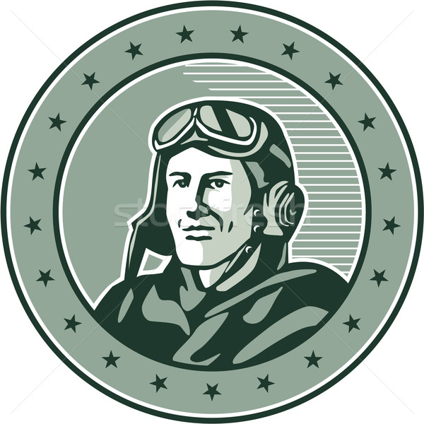 World War One Aviator Circle Retro Stock photo © patrimonio