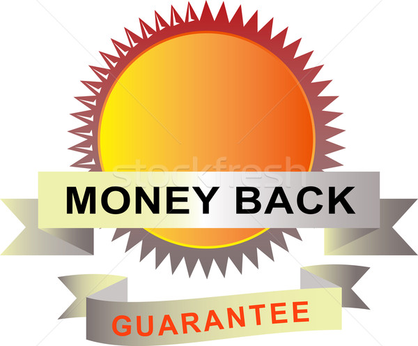 Seal with scroll money back guarantee Stock photo © patrimonio