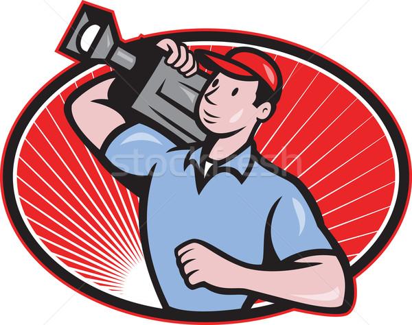 Film equipaggio fotocamera illustrazione Foto d'archivio © patrimonio