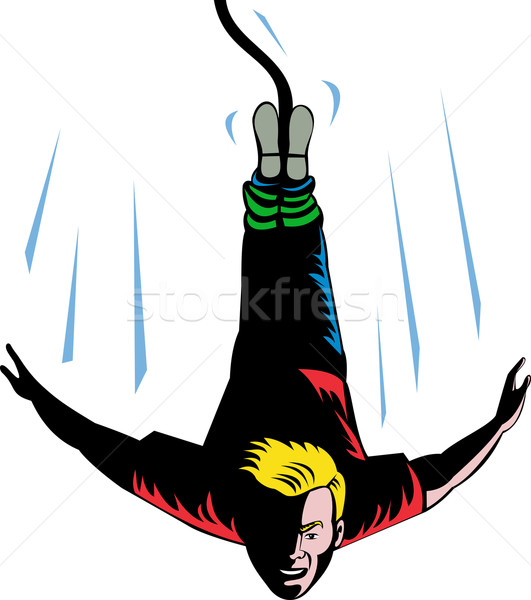 Man Bungy Jumping  Stock photo © patrimonio