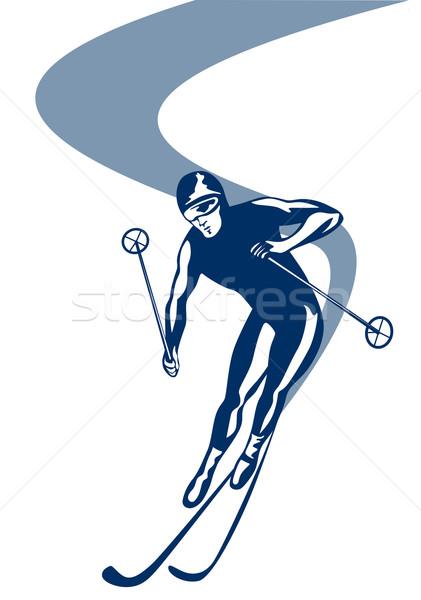 Skiing Slalom Downhill Stock photo © patrimonio