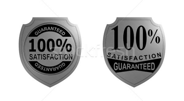 100 satisfaction argent sceau illustration Photo stock © patrimonio