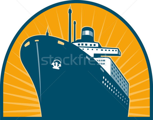 Ocean passenger liner boat ship Stock photo © patrimonio