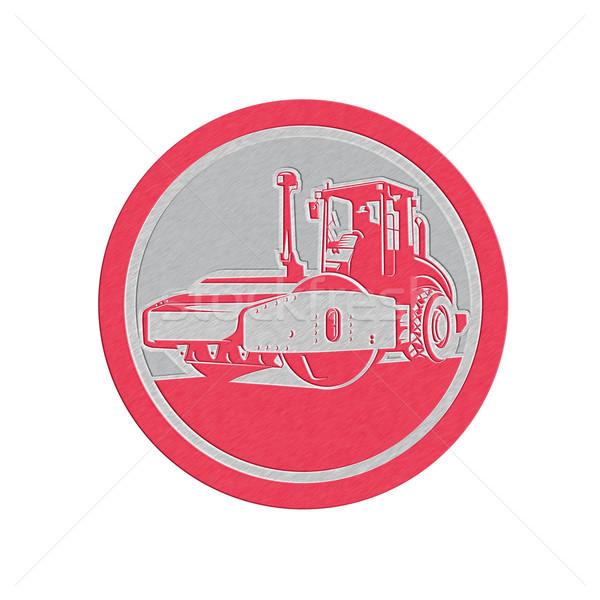 Metallic Road Compactor Circle Retro Stock photo © patrimonio