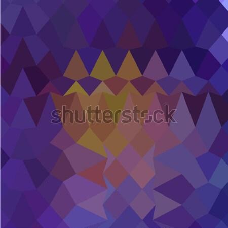 暗い バイオレット 抽象的な 低い ポリゴン スタイル ストックフォト © patrimonio