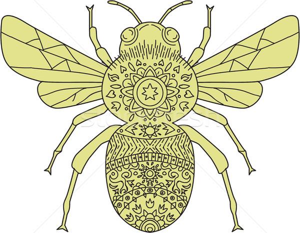 Bumble Bee Mandala Stock photo © patrimonio