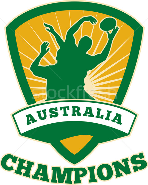 Stock photo: Rugby Player Australia Champions