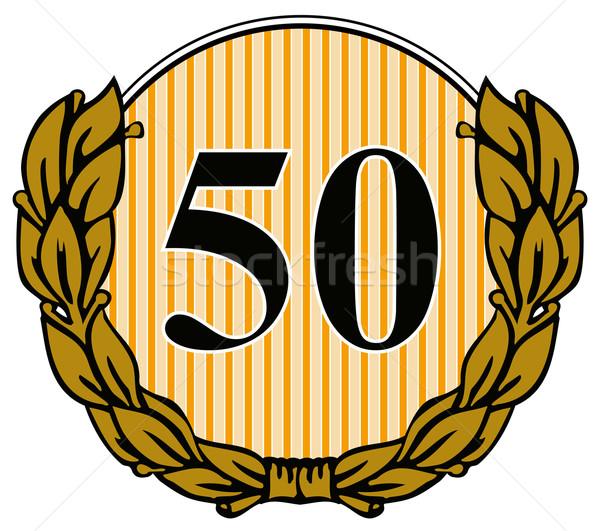 50 círculo laurel folhas ilustração número Foto stock © patrimonio