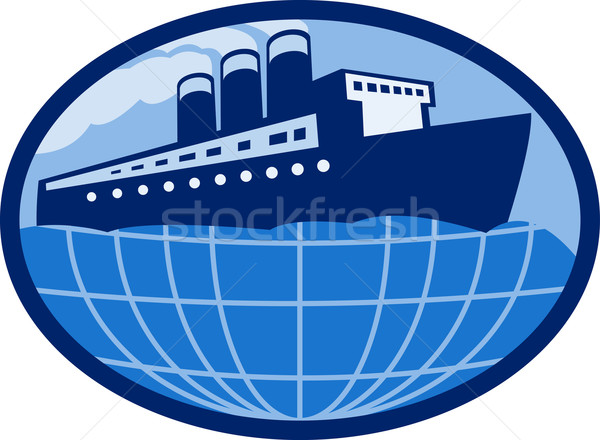 Ocean passenger  liner boat ship globe  Stock photo © patrimonio