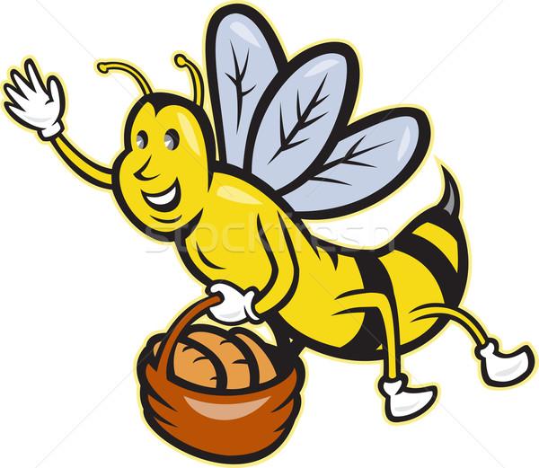 Pszczoła koszyka chleba bochenek cartoon Zdjęcia stock © patrimonio