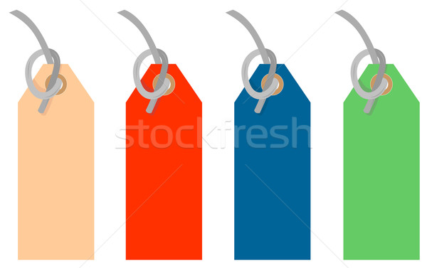Colored Tags Strings Stock photo © patrimonio