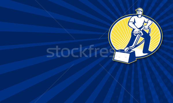 Carpet Cleaner Vacuum Cleaning Machine Retro Stock photo © patrimonio