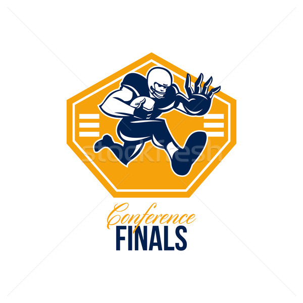 American Football Conference Finals Shield Retro Stock photo © patrimonio