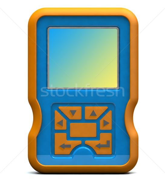 Rendering 3d mobile telefono cellulare pda telefono cellulare Foto d'archivio © patrimonio