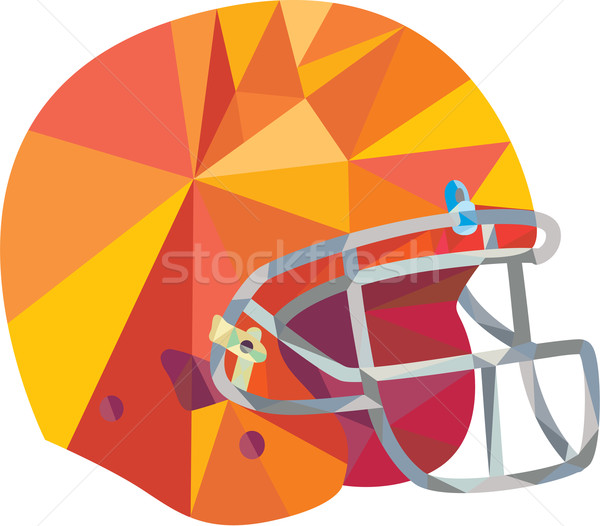 Amerikan futbol kask düşük çokgen stil Stok fotoğraf © patrimonio