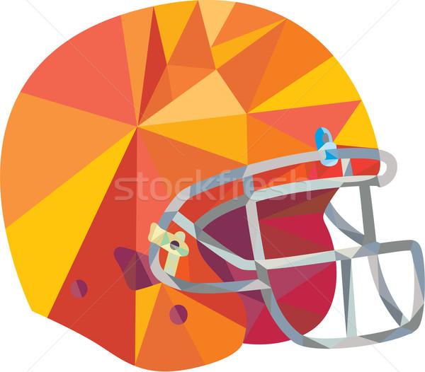 American Football Helmet Low Polygon Stock photo © patrimonio