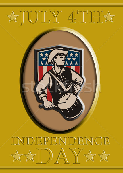 American Patriot Independence Day Poster Greeting Card Stock photo © patrimonio