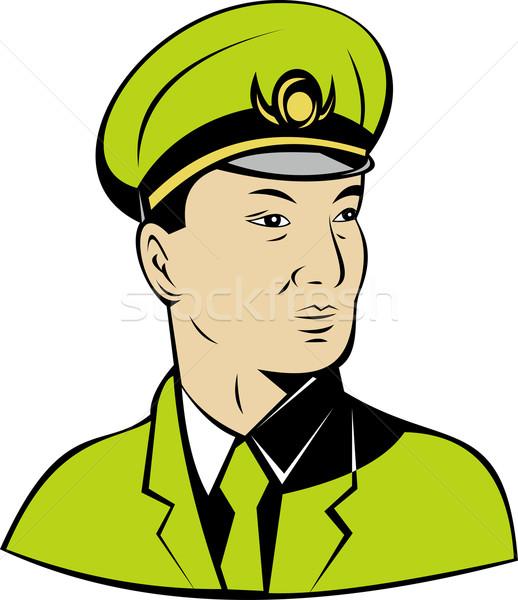 Asya askeri subay örnek ordu yalıtılmış Stok fotoğraf © patrimonio