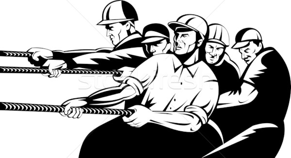 construction worker pulling rope  Stock photo © patrimonio