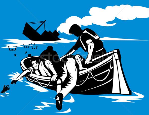 Vida jangada ilustração ajuda Foto stock © patrimonio